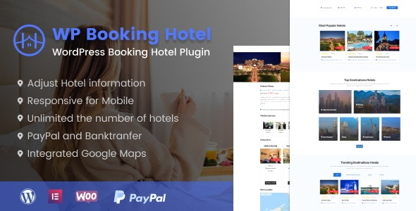 WordPress Booking Hotel - CodeCanyon Item for Sale