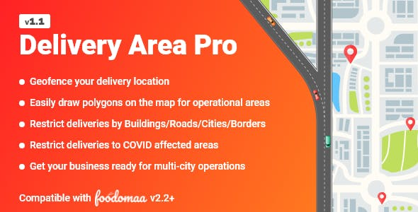 Delivery Area Pro Module for Foodomaa