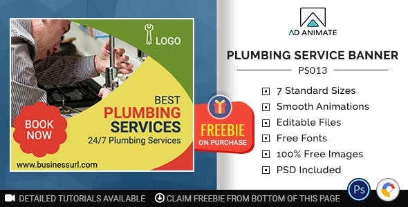Professional Services | Plumbing Service Banner (PS013)