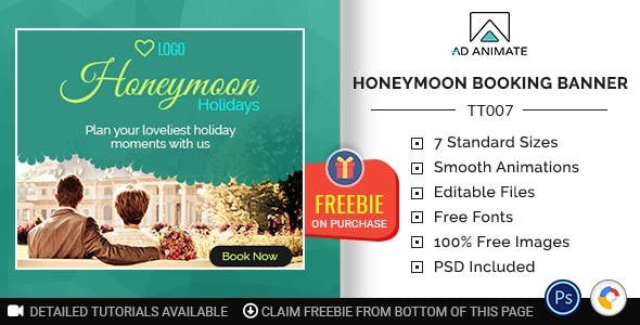 Tour & Travel | Honeymoon Booking Banner (TT007)