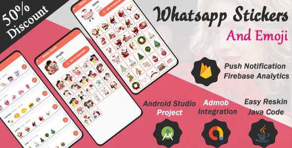 Whatsapp Stickers and Emoji And full Admob Integration - CodeCanyon Item for Sale