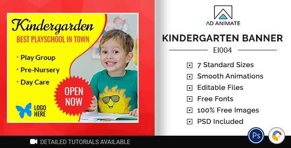 Education & Institute | Kindergarten Playschool Banner (EI004)