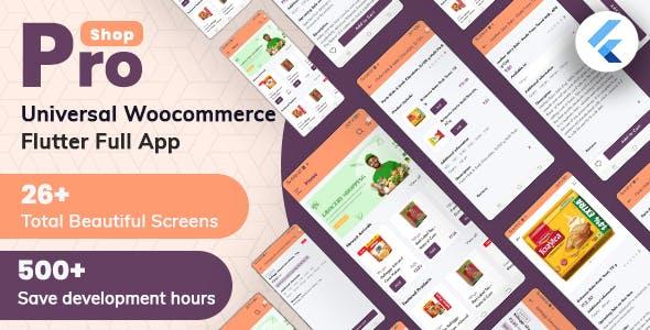 ProShop -  WooCommerce Multipurpose E-commerce Flutter Full Mobile App
