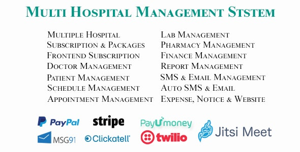 Multi Hospital - Hospital Management System (Saas App) - CodeCanyon Item for Sale