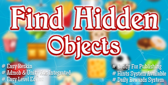 Find Hidden Objects - Admob & Unity Ads Integrated - CodeCanyon Item for Sale