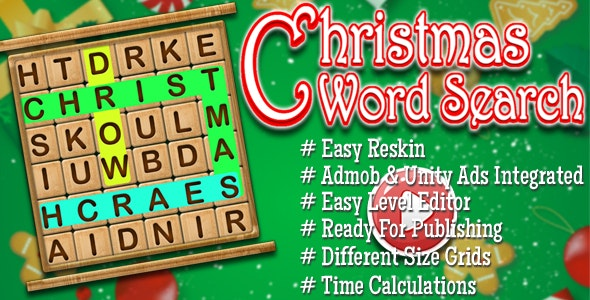 Words Search Christmas Edition - Admob & Unity Ads Integrated - CodeCanyon Item for Sale
