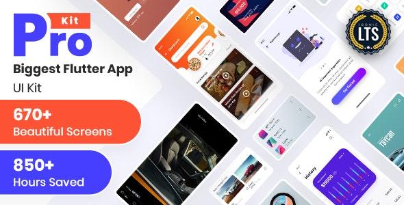 Prokit - Biggest Flutter UI Kit - CodeCanyon Item for Sale