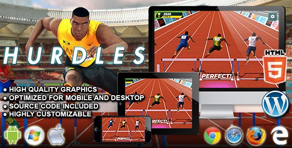 Hurdles - HTML5 Sport Game - CodeCanyon Item for Sale