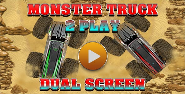 Monster Truck 2 Player Game (CAPX and HTML5)