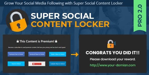 Super Social Content Locker