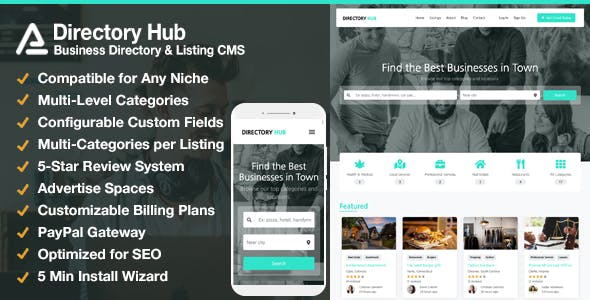 Directory Hub Listing & Business Directory CMS