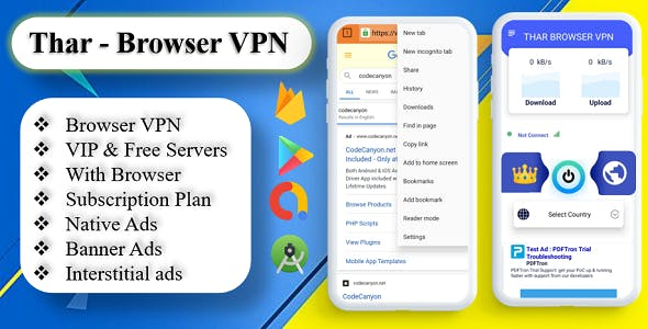 THAR - Browser VPN | High Secure VPN | Subscription Plan | Admob Ads