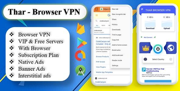 THAR - Browser VPN | High Secure VPN | Subscription Plan | Admob Ads - CodeCanyon Item for Sale