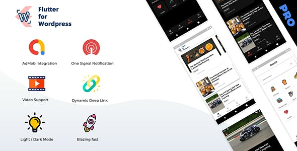Flutter for Wordpress Pro
