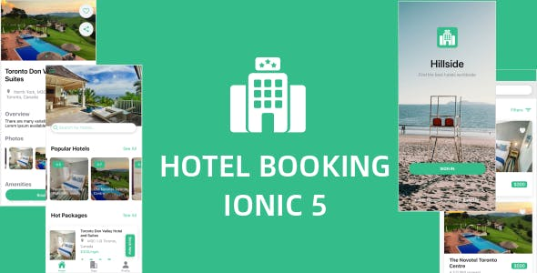 Hillside - A Hotel Booking Theme UI App By Ionic 5 Angular 9 (Latest)