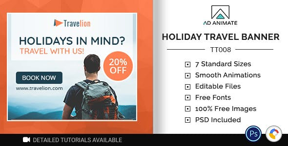 Tour & Travel | Holiday Travel Banner (TT008)