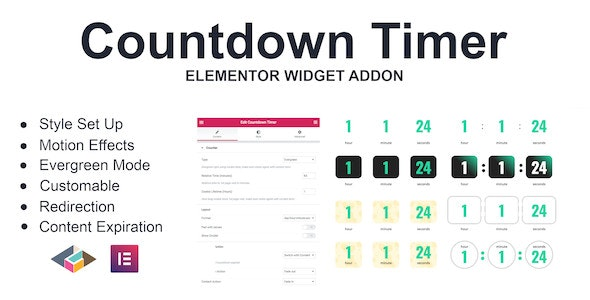 Countdown Timer Elementor Page Builder Addon - CodeCanyon Item for Sale