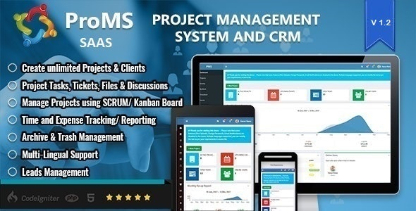 PROMS SAAS - Premium Project Management System - CodeCanyon Item for Sale