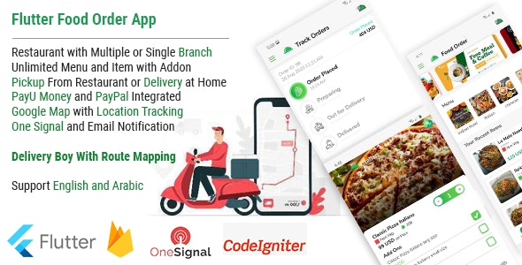 Single Restaurant Food Order Flutter full product Android & IOS + Delivery boy Native Android app - CodeCanyon Item for Sale