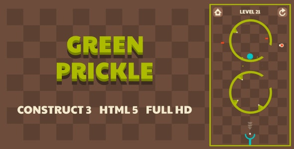 Green Prickle - HTML5 Game (Construct3) - CodeCanyon Item for Sale