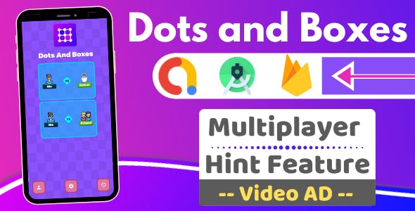 Dots and Boxes Multiplayer with Reward Video Ad