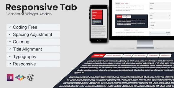 Responsive Tab Elementor Addon Plugin - CodeCanyon Item for Sale