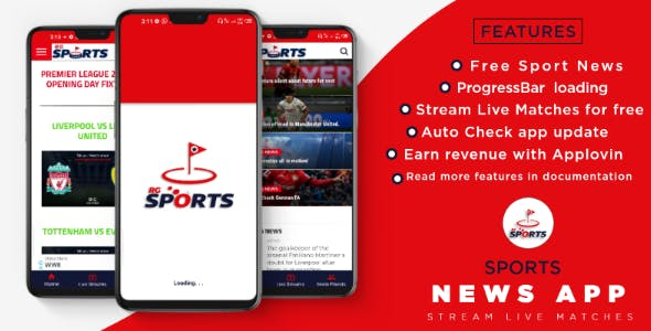 Sports News - Stream Live Matches Android App