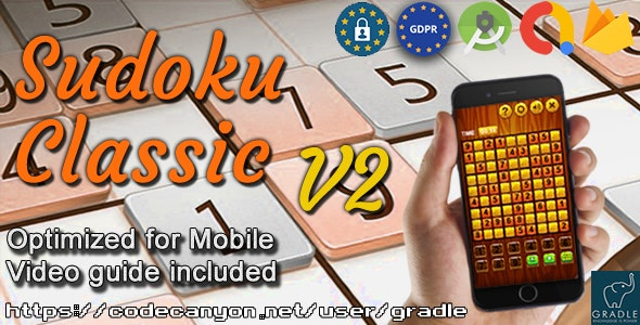 SUDOKU V2 (Admob + GDPR + Android Studio) - CodeCanyon Item for Sale
