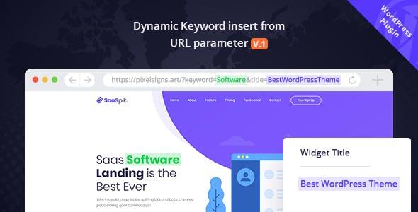 Dynamic Keyword Insert From URL parameter