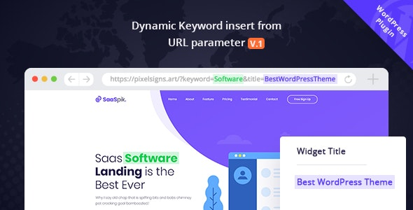 Dynamic Keyword Insert From URL parameter - CodeCanyon Item for Sale