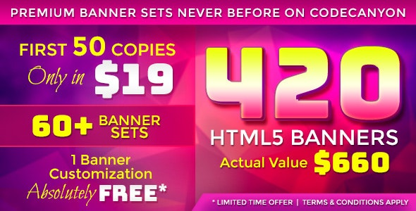 Premium Banner Bundle - 420 Animated HTML5 Banner Templates - CodeCanyon Item for Sale