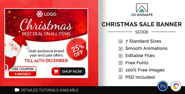 Shopping & E-commerce | Christmas Sale Banner (SE008) - CodeCanyon Item for Sale