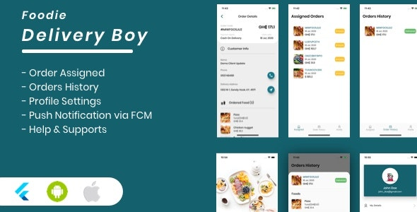 Foodie Delivery Boy For Foodie Multi-Restaurants Flutter App - CodeCanyon Item for Sale