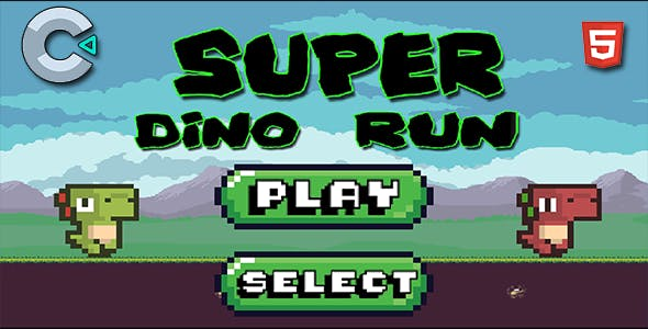 Super Dino Runner - HTML5 Mobile Game