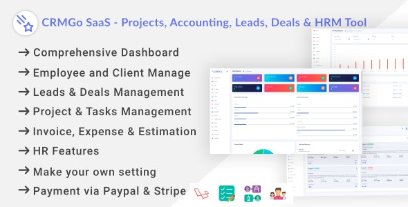 CRMGo SaaS - Projects, Accounting, Leads, Deals & HRM Tool - CodeCanyon Item for Sale