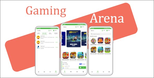 Gaming Arena - gaming fantasy tournament app (MPL clone)