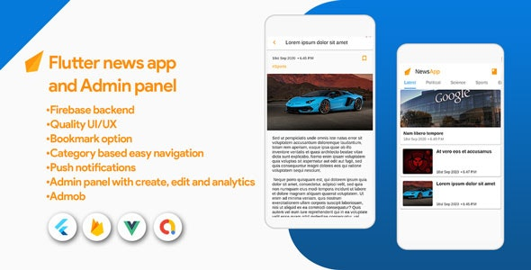 Flutter News App Pro with Admin Panel - CodeCanyon Item for Sale