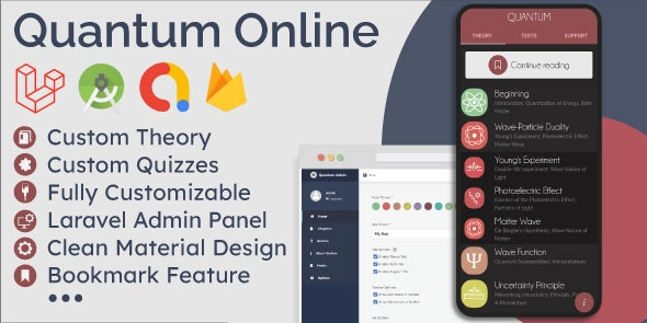 Educational App (Theory & Quizzes) + Admin Panel - CodeCanyon Item for Sale
