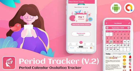 Android Period Tracker for Women - Period Calendar Ovulation Tracker (Pregnancy & Ovulation) (V-2)