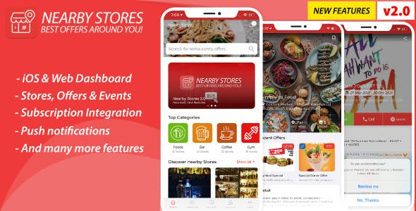 NearbyStores iOS 2.0 - Offers, Events + Subscription