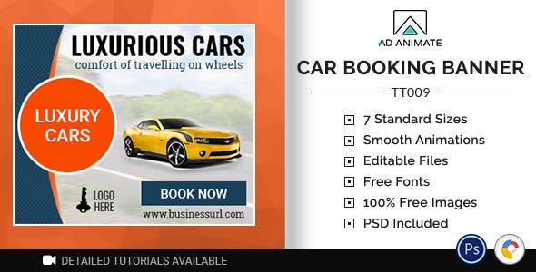Tour & Travel | Car Booking Banner (TT009)