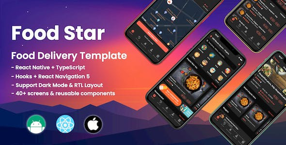 Food Star - React Native Food Delivery Template