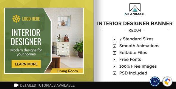 Real Estate | Interior Designer Banner (RE004)