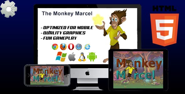 The Monkey Marcel - HTML5 Game (capx)
