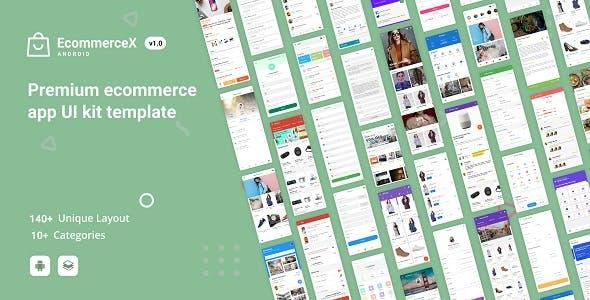 EcommerceX - Premium Ecommerce App UI Kit Template 1.0
