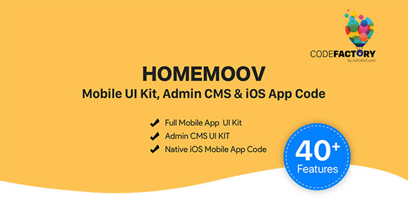 HOMEMOOV - Mobile UI Kit, Admin CMS & iOS App Code