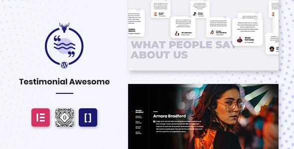 Testimonial Awesome Pro - Testimonial Plugin WordPress Slider
