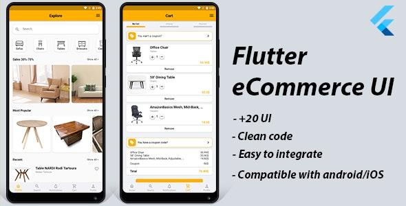Flutter UI Kit: eCommerce App - CodeCanyon Item for Sale
