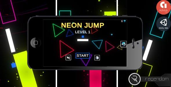 Neon Jump – Complete Unity Game + Admob