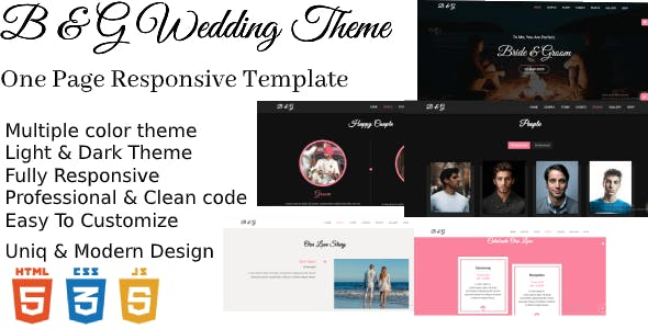 B & G One Page Responsive HTML5 Templates